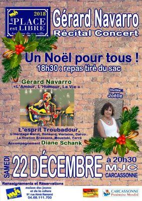 """La Place est libre, samedi 22 décembre à 20h30 à la MJC ! A partir de 18h30, repas partagé """"Un Noël pour tous"""""""