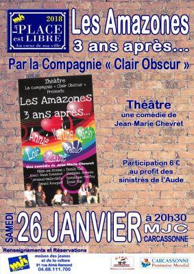 """Samedi 26 janvier, pour la première fois de l'année, """"La place est libre"""" se met au théâtre avec la Compagnie """"Clair Obscur""""."""