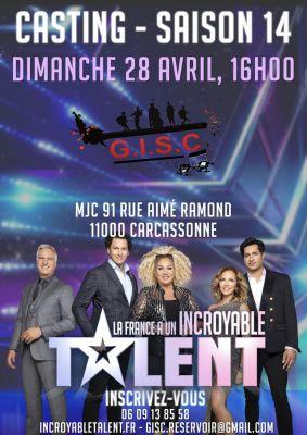Rendez-vous dimanche à la MJC avec le GISC et le casting de La France a un Incroyable Talent !